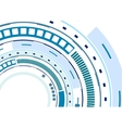 Tech blue HUD gear abstract background vector image vector image