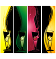 different cocktails banners vector image