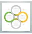 Abstract 4 Circle Ribbon Infographic 2 vector image