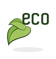 Eco design Green concept Earth protection icon vector image
