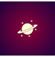 Jupiter planet icon vector image vector image