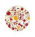apple icons in circle vector image