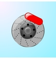 Brake disc with caliper vector image