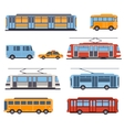 City and Intercity Transportation vector image