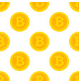 golden bitcoin seamless pattern for vector image