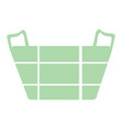 isolated basket icon vector image