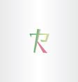 logo of letter r icon design vector image