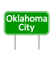 Oklahoma City green road sign vector image