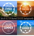 Summer posters with seaside background and text vector image
