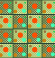 The pattern of colored circles on a grid vector image