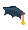 hat graduation uniform icon vector image