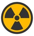 Radioactive Flat Icon vector image
