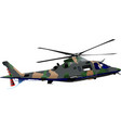 air force combat helicopter vector image vector image