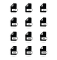 file type icon black vector image
