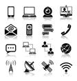 Communication icon black set vector image