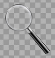 Magnifing Glass With Transparent Background vector image vector image