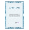 Certificate pattern vector image