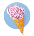 Ice cream icon shaped from decorative swirls vector image vector image