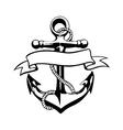 Anchor icon tattoo logo grunge design floral hand vector image