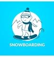Snowboarding logo vector image