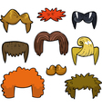 wigs set doodle vector image vector image
