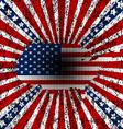 Grunge american background vector image