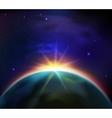 Space Sunrise Background vector image