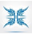 Sharp blue tribal tattoo vector image vector image