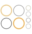 Circle template sticker vector image
