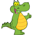 Alligator Or Crocodile Showing Thumbs Up vector image