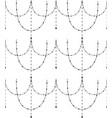Black decorative seamless pattern vector image