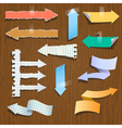 collection paper arrows vector image