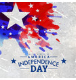 grunge style american independence day background vector image