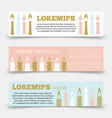 horizontal banners template with candles vector image