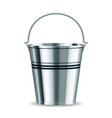 metal bucket vector image