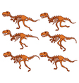 T Rex Bone Running Sequence vector image