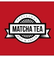 Vintage Machta Tea sign or logo vector image