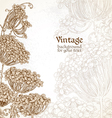 Wild flowers - umbrellas vintage background vector image vector image