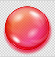 transparent red sphere with shadow vector image