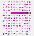 set of navigation stickers vector image