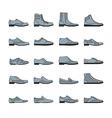 Footwear icon set vector image