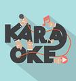 Microphone Hand With Karaoke Typography Design vector image