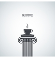 coffee cup classic design background vector image