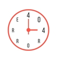 concept of error 404 with red watches vector image