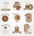 Coffee flat and vintage label design vector image vector image