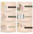 vintage business cards set vector image