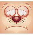 Sad Animal Face vector image