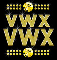 gold letters set vector image
