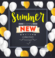 summer new collection banner vintage style text vector image
