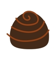 candy sweet chocolate icon vector image